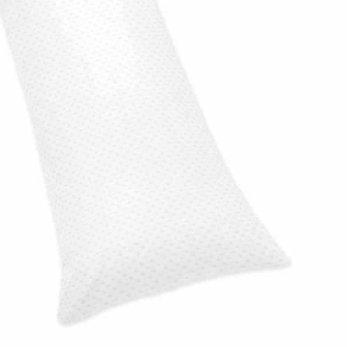 Solid White Minky Dot Full Length Double Zippered Body Pillow Case Cover - Click to enlarge