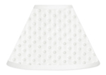 Solid White Minky Dot Lamp Shade by Sweet Jojo Designs