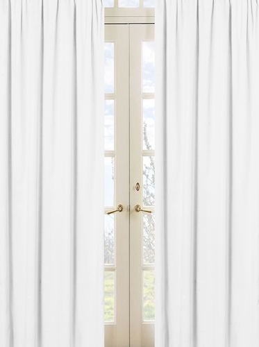 Solid White Minky Dot Window Treatment Panels by Sweet Jojo Designs - Set of 2 - Click to enlarge