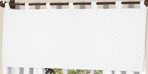 Solid White Minky Dot Window Valance by Sweet Jojo Designs - Click to enlarge