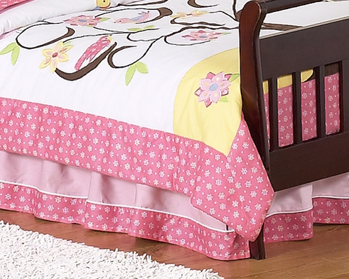Song Bird Bed Skirt for Toddler Bedding Sets by Sweet Jojo Designs - Click to enlarge