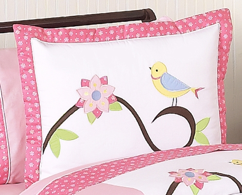 Song Bird Pillow Sham by Sweet Jojo Designs - Click to enlarge