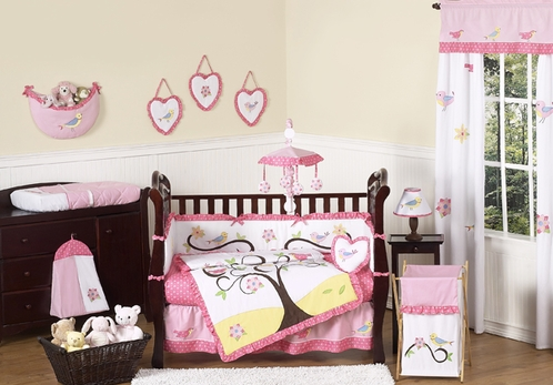 Song Bird Baby Bedding 9pc Crib Set By Sweet Jojo Designs Click To Enlarge