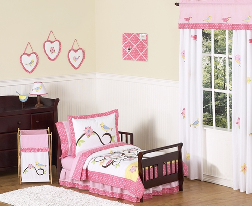 Song Bird Toddler Bedding - 5pc Set by Sweet Jojo Designs - Click to enlarge