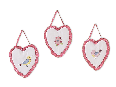 Song Bird Wall Hanging Accessories by Sweet Jojo Designs - Click to enlarge