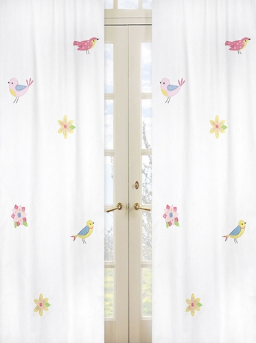 Song Bird Window Treatment Panels by Sweet Jojo Designs - Set of 2 - Click to enlarge