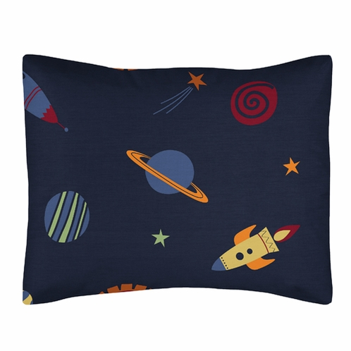 Space Galaxy Pillow Sham by Sweet Jojo Designs - Click to enlarge