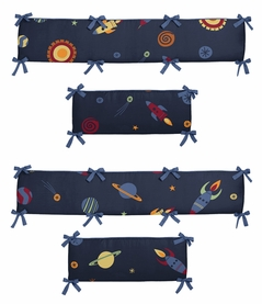 Space Galaxy Collection Crib Bumper by Sweet Jojo Designs