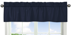 Navy Window Valance for Space Galaxy�Collection by Sweet Jojo Designs