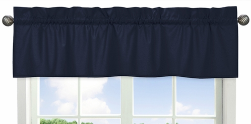 Navy Window Valance for Space Galaxy�Collection by Sweet Jojo Designs - Click to enlarge