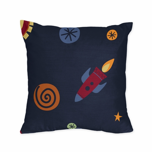 Space Galaxy Decorative Accent Throw Pillow by Sweet Jojo Designs - Click to enlarge