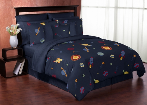 space galaxy 3pc full queen bedding set collection only. Black Bedroom Furniture Sets. Home Design Ideas
