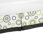 Spirodot Lime and Black Bed Skirt for Toddler Bedding Sets by Sweet Jojo Designs