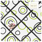 Spirodot Lime and Black Fabric Memory/Memo Photo Bulletin Board by Sweet Jojo Designs
