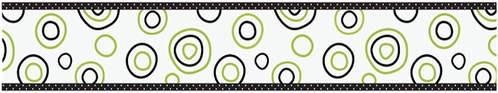 Spirodot Lime and Black Kids and Baby Modern Wall Border by Sweet Jojo Designs - Click to enlarge