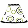 Spirodot Lime and Black Lamp Shade by Sweet Jojo Designs
