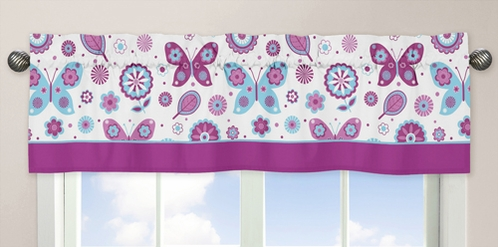 Spring Garden�Window Valance by Sweet Jojo Designs - Click to enlarge