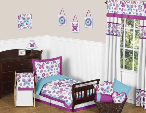 Spring Garden Toddler Bedding - 5pc Set by Sweet Jojo Designs - Click to enlarge