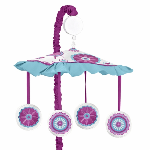 Spring Garden Musical Baby Crib Mobile by Sweet Jojo Designs - Click to enlarge