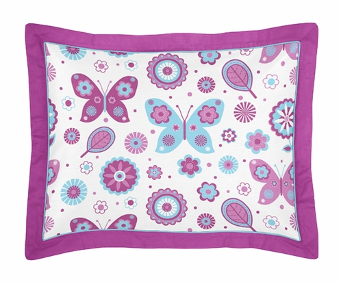 Spring Garden Pillow Sham by Sweet Jojo Designs - Click to enlarge