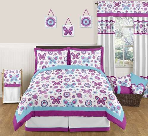 Spring Garden Childrens and Kids Bedding - 3pc Full / Queen Set by Sweet Jojo Designs - Click to enlarge