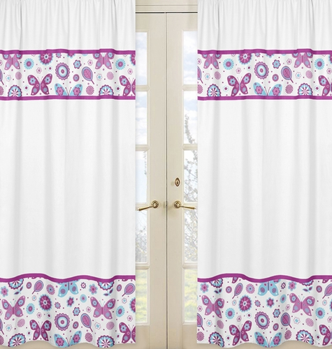 Spring Garden Window Treatment Panels by Sweet Jojo Designs - Set of 2 - Click to enlarge