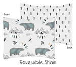 Standard Pillow Sham for Bear Mountain Watercolor Collection by Sweet Jojo Designs