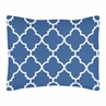 Standard Pillow Sham for Blue and White Trellis Bedding by Sweet Jojo Designs