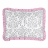 Standard Pillow Sham for Pink, Gray and Turquoise Skylar Bedding by Sweet Jojo Designs