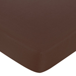 Starry Night Fitted Crib Sheet for Baby/Toddler Bedding Sets - Chocolate Brown