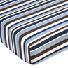 Starry Night Fitted Crib Sheet for Baby/Toddler Bedding Sets - Stripe Print