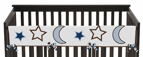 Starry Night Stars and Moons Baby Crib Long Rail Guard Cover by Sweet Jojo Designs - Click to enlarge