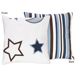 Starry Night Stars and Moons Decorative Accent Throw Pillow