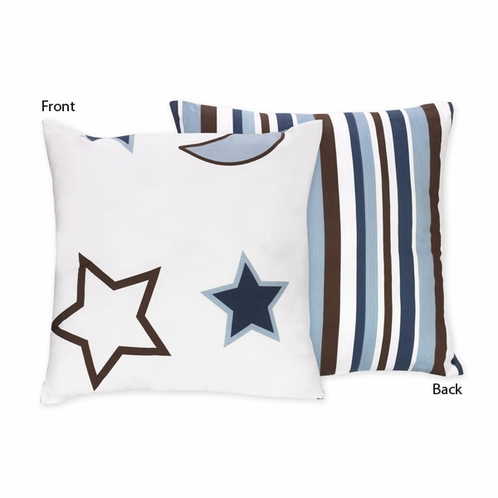 Starry Night Stars and Moons Decorative Accent Throw Pillow - Click to enlarge
