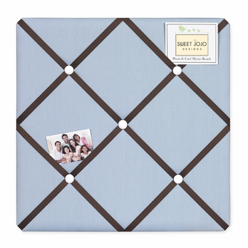 Starry Night Stars and Moons Fabric Memory/Memo Photo Bulletin Board - Click to enlarge