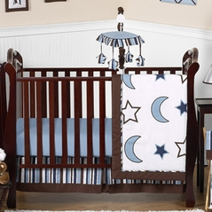 Stars and Moons Baby Bedding - 11pc Crib Set by Sweet Jojo Designs