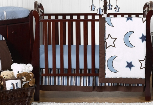 Stars And Moons Baby Bedding   11pc Crib Set By Sweet Jojo Designs   Click  To
