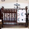 Stars and Moons Baby Bedding - 9pc Crib Set by Sweet Jojo Designs