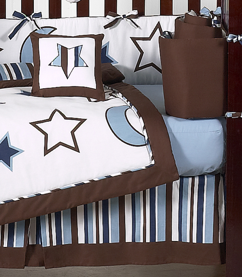 Stars And Moons Baby Bedding   9pc Crib Set By Sweet Jojo Designs Only  $86.99