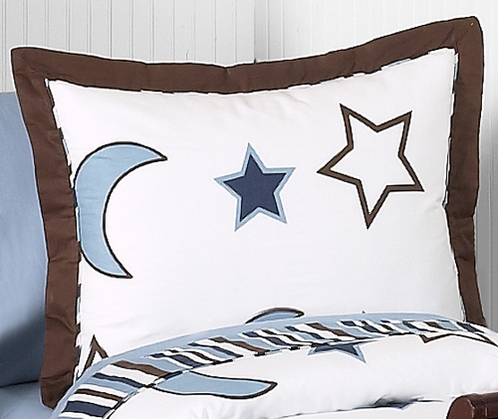 Starry Night Stars and Moons Pillow Sham - Click to enlarge