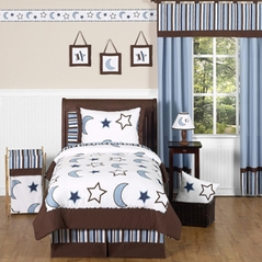 Stars and Moons Kids Bedding - 4pc Boys Twin Set by Sweet Jojo Designs