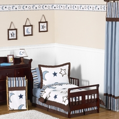 Stars and Moons Toddler Bedding - 5pc Boy Bedding Set by Sweet Jojo Designs