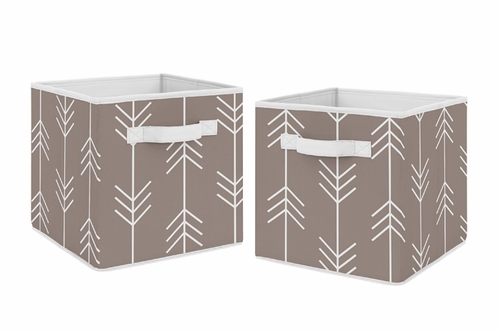 Stone Arrow Foldable Fabric Storage Cube Bins Boxes Organizer Toys Kids Baby Childrens for Outdoor Adventure Collection by Sweet Jojo Designs - Set of 2 - Click to enlarge