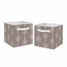 Stone Arrow Foldable Fabric Storage Cube Bins Boxes Organizer Toys Kids Baby Childrens for Outdoor Adventure Collection by Sweet Jojo Designs - Set of 2