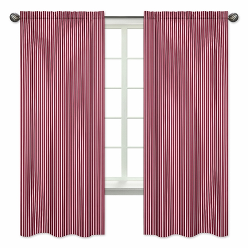 Stripe Window Treatment Panels for Vintage Aviator Collection by Sweet Jojo Designs - Set of 2 - Click to enlarge