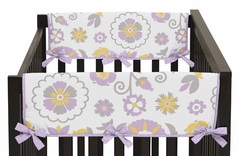 Suzanna Baby Crib Side Rail Guard Covers by Sweet Jojo Designs - Set of 2