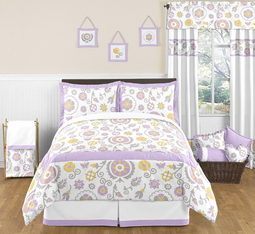 Suzanna Childrens and Kids Bedding - 3pc Full / Queen Set by Sweet Jojo Designs - Click to enlarge