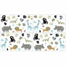 Turquoise and Navy Blue Safari Animal Wallpaper Wall Border for Mod Jungle Collection by Sweet Jojo Designs - Set of 4 Sheets
