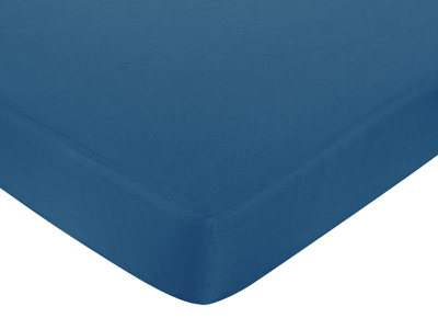 Sweet Jojo Designs Surf Fitted Crib Sheet for Baby/Toddler Bedding Sets - Dark Blue - Click to enlarge