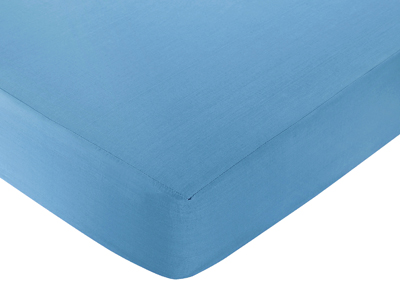 Sweet Jojo Designs Surf Fitted Crib Sheet for Baby/Toddler Bedding Sets - Solid Blue - Click to enlarge